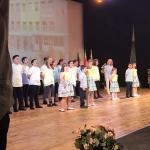 Изпълнение на Химна на училището